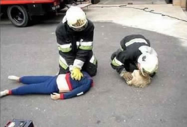 Proper way of performing CPR.